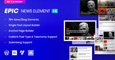 Epic News Elements 2.3.2 Nulled – Add Ons for Elementor & WPBakery Page Builder