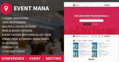Event Management WordPress Theme 1.8.8