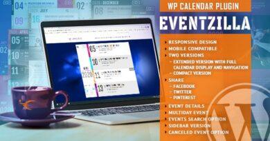 EventZilla 1.3.2 – Event Calendar WordPress Plugin