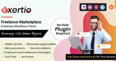 Exertio 1.0.1 – Freelance Marketplace WordPress Theme