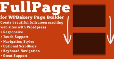 FullPage for WPBakery Page Builder 2.1.4 Nulled