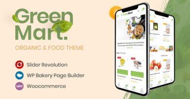 GreenMart 3.0.7 – Organic & Food WooCommerce WordPress Theme