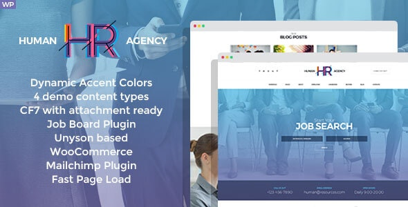 HR Human Consult 1.3.0 – Searching & Recruiting WordPress Theme