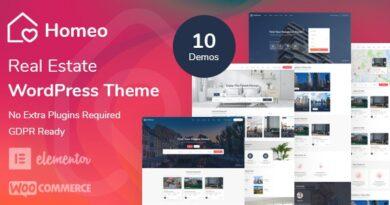Homeo 1.2.4 – Real Estate WordPress Theme