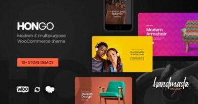 Hongo 2.0 Nulled – Modern & Multipurpose WooCommerce WordPress Theme