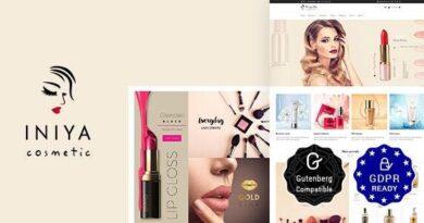 Iniya 2.3 – Beauty Store, Cosmetic Shop WordPress Theme