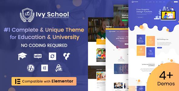 Ivy School 1.3.8 – Education, University & School WordPress Theme