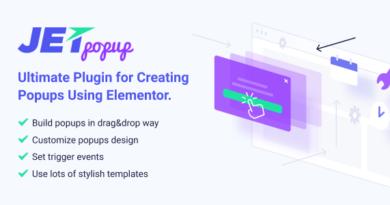 JetPopup 1.5.2 – Stylish Popup builder for Elementor