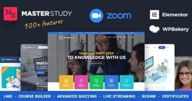Masterstudy 4.2.3 Nulled – Education Center WordPress Theme