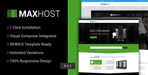 MaxHost 7.4.2 – Web Hosting, WHMCS and Corporate Business WordPress Theme