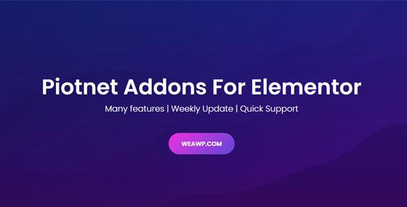 Piotnet Addons Pro For Elementor Pro 6.3.52 Nulled