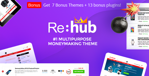 Rehub 14.7.4 Nulled – Affiliate Marketing, Multi Vendor Store, Community Theme