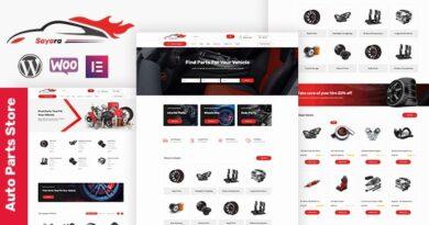 Sayara 1.1.3 – Auto Parts Store WooCommerce WordPress Theme