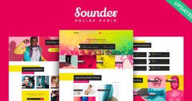 Sounder 1.2.0 – Online Internet Radio Station WordPress Theme