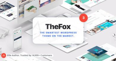 TheFox 3.9.9.9.15 Nulled – Responsive Multi-Purpose WordPress Theme