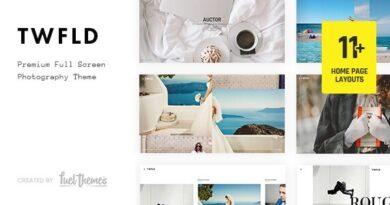 TwoFold 3.7.0 Nulled – Fullscreen Photography WordPress Theme