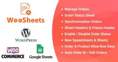 WooSheets 5.1 – Manage WooCommerce Orders with Google Spreadsheet