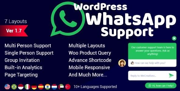 WordPress WhatsApp Support 2.0.6 Nulled