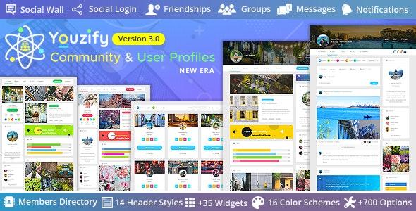 Youzify (formerly Youzer) 3.0.0 Nulled +Addons – Buddypress Community & WordPress User Profile Plugin